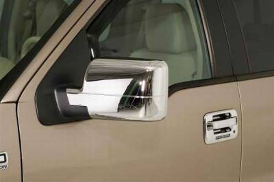 F450 - Mirrors - Wade - Wade Chrome Full Mirror Cover - Telescopic without Turn Signal Light 2PC - 18006