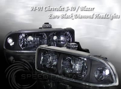 Headlights & Tail Lights - Headlights - Custom - Diamond Black Headlights
