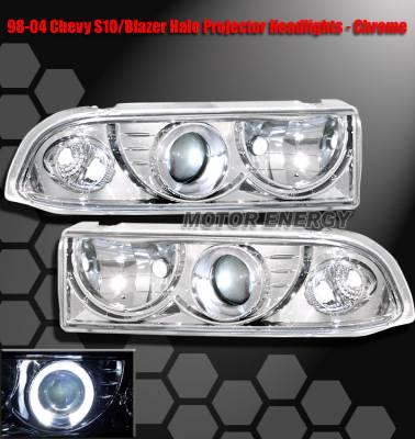 Headlights & Tail Lights - Headlights - Custom - Chrome Halo Pro Headlights