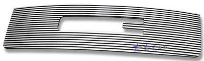 Grilles - Custom Fit Grilles - APS - GMC Sierra APS CNC Grille - with Logo Opening - Upper - Aluminum - G96474R