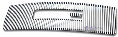 Grilles - Custom Fit Grilles - APS - GMC Sierra APS CNC Grille - with Logo Opening - Upper - Aluminum - G96474U
