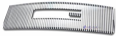 Grilles - Custom Fit Grilles - APS - GMC Sierra APS CNC Grille - with Logo Opening - Upper - Aluminum - G96474U