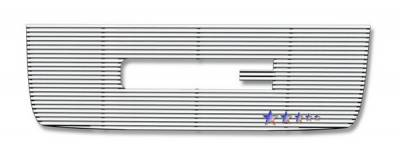 Grilles - Custom Fit Grilles - APS - GMC Sierra APS CNC Grille - with Logo Opening - Upper - Aluminum - G96516R