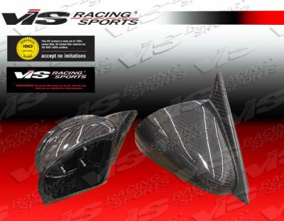 3 Series 4Dr - Mirrors - VIS Racing - BMW 3 Series VIS Racing Carbon Fiber Side Mirror Housing Only - 84BME302DACE-014C