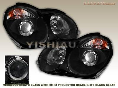 Headlights & Tail Lights - Headlights - Custom - Black Clear Pro Headlights