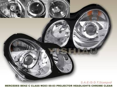 Headlights & Tail Lights - Headlights - Custom - Chrome Clear Pro Headlights