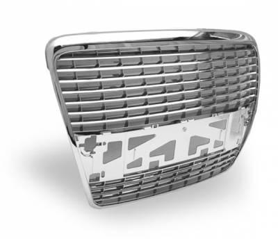 Grilles - Custom Fit Grilles - 4CarOption - Audi A6 4CarOption Front Hood Grille - GR-A60506-CM