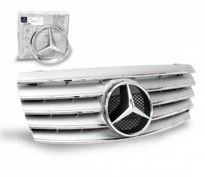 Grilles - Custom Fit Grilles - 4CarOption - Mercedes C Class 4CarOption Front Hood Grille - GRA-W2029400W-CL5SL