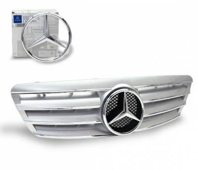 Grilles - Custom Fit Grilles - 4CarOption - Mercedes C Class 4CarOption Front Hood Grille - GRA-W2030003WCL-SL