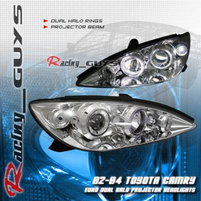 Headlights & Tail Lights - Headlights - Custom - Euro Chrome Dual Halo Pro Headlights