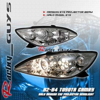 Headlights & Tail Lights - Headlights - Custom - Chrome Dragon Eye Pro  Headlights