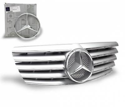 Grilles - Custom Fit Grilles - 4CarOption - Mercedes E Class 4CarOption Front Hood Grille - GRA-W2100002WCL-SL