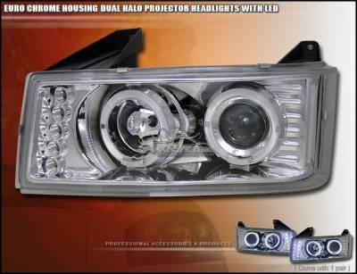 Headlights & Tail Lights - Headlights - Custom - Chrome Dual Halo Pro Headlights