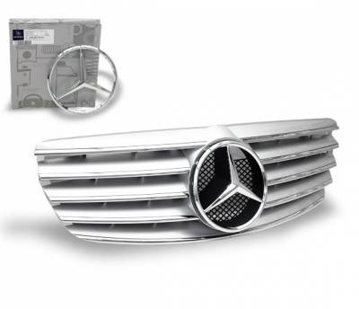 Grilles - Custom Fit Grilles - 4CarOption - Mercedes E Class 4CarOption Front Hood Grille - GRA-W2110305WCL-SL