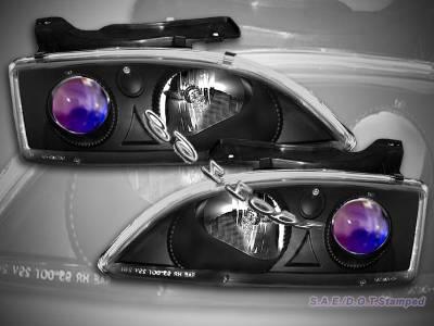 Headlights & Tail Lights - Headlights - Custom - Black Blue Pro Headlights