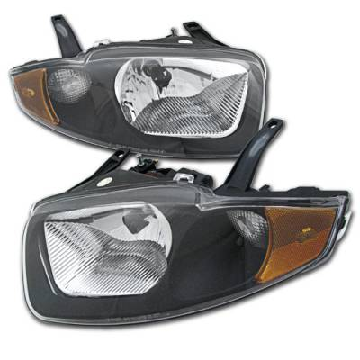 Headlights & Tail Lights - Headlights - Custom - Euro Black Crystal Headlights