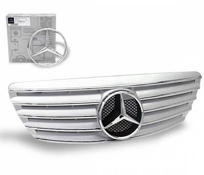 Grilles - Custom Fit Grilles - 4CarOption - Mercedes S Class 4CarOption Front Hood Grille - GRA-W2200305WCL-SL