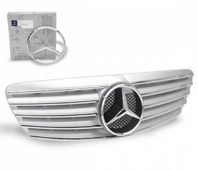 Grilles - Custom Fit Grilles - 4CarOption - Mercedes S Class 4CarOption Front Hood Grille - GRA-W2209902WCL-SL