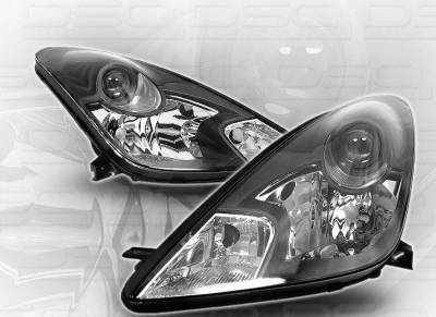 Headlights & Tail Lights - Headlights - Custom - Black GTS Pro Headlights