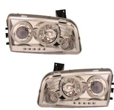 Headlights & Tail Lights - Headlights - Custom - Diamond Led Halo Pro Headlights