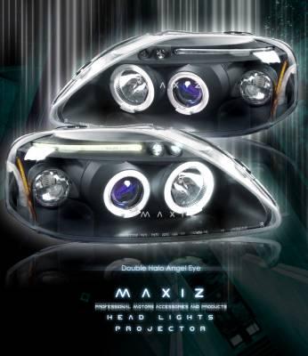 Headlights & Tail Lights - Headlights - Custom - Halo LED Eyelid Pro  Headlights
