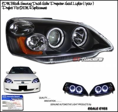 Headlights & Tail Lights - Headlights - Custom - Black JDM  Halo Pro Headlights