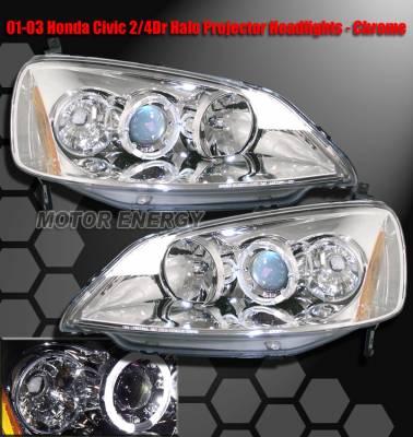 Headlights & Tail Lights - Headlights - Custom - Crome Blue Halo Pro Headlights