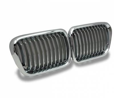 4CarOption - BMW 3 Series 4CarOption Front Hood Grille - GR-E369798XCS-A
