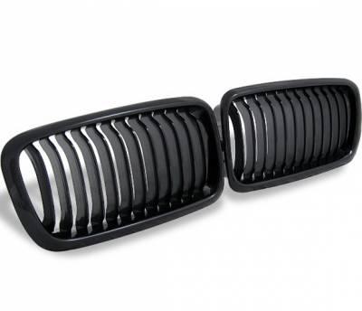 Grilles - Custom Fit Grilles - 4CarOption - BMW 7 Series 4CarOption Front Hood Grille - GR-E389501XB-A