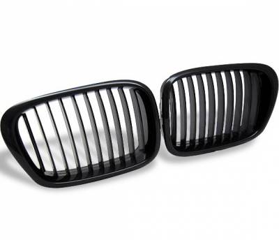 Grilles - Custom Fit Grilles - 4CarOption - BMW 5 Series 4CarOption Front Hood Grille - GR-E399603XB-A