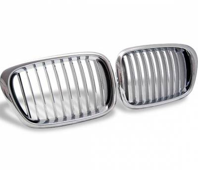 Grilles - Custom Fit Grilles - 4CarOption - BMW 5 Series 4CarOption Front Hood Grille - GR-E399603XCS-A