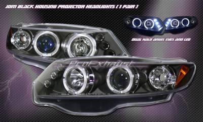 Headlights & Tail Lights - Headlights - Custom - Black Housing LED Halo Pro Headlights