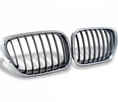 Grilles - Custom Fit Grilles - 4CarOption - BMW X5 4CarOption Front Hood Grille - GR-E530003XCS-A