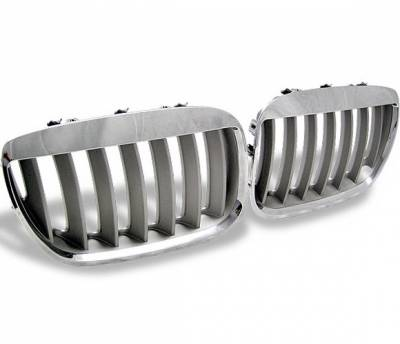 Grilles - Custom Fit Grilles - 4CarOption - BMW X5 4CarOption Front Hood Grille - GR-E5304066CS-A