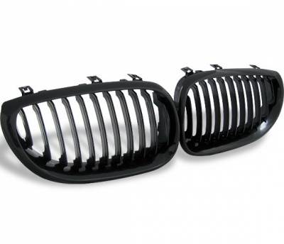 Grilles - Custom Fit Grilles - 4CarOption - BMW 5 Series 4CarOption Front Hood Grille - GR-E600305XB-A
