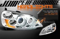 Headlights & Tail Lights - Headlights - Custom - JDM Chrome Halo Pro Headlights