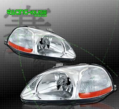 Headlights & Tail Lights - Headlights - Custom - Diamond Dual Lense Headlights