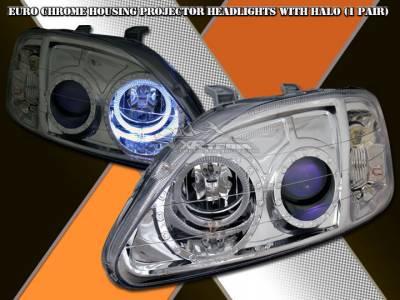 Headlights & Tail Lights - Headlights - Custom - Euro Chrome Halo Pro Headlights