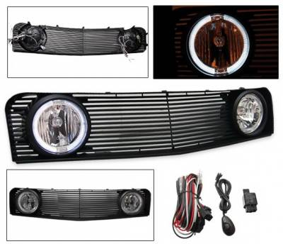 Grilles - Custom Fit Grilles - 4CarOption - Ford Mustang 4CarOption Front Hood Grille - GRF-MST0506V6G-BK