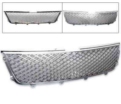 Grilles - Custom Fit Grilles - 4CarOption - Suzuki Grand Vitara 4CarOption Front Hood Grille - GR-GVTR0607-CM