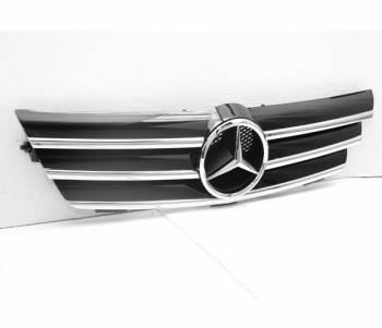 Grilles - Custom Fit Grilles - 4CarOption - Mercedes C Class 4CarOption Front Hood Grille - GRG-W203SC0205G-BK