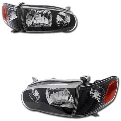 Headlights & Tail Lights - Headlights - Custom - JDM Black Euro Headlights