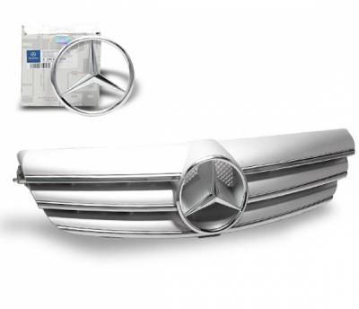 Grilles - Custom Fit Grilles - 4CarOption - Mercedes CLK 4CarOption Front Hood Grille - GRG-W2090307F-CL3SL