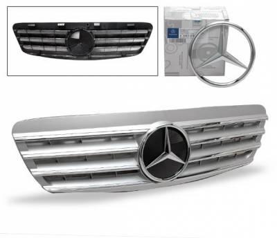 Grilles - Custom Fit Grilles - 4CarOption - Mercedes S Class 4CarOption Front Hood Grille - GRG-W2209902GCL4-SL