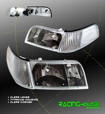Headlights & Tail Lights - Headlights - Custom - Black Headlights