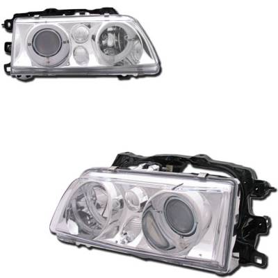 Headlights & Tail Lights - Headlights - Custom - Chrome Clear Halo Pro Headlights