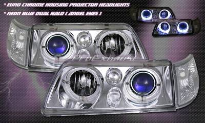 Headlights & Tail Lights - Headlights - Custom - Chrome Angel Eyes  Headlights