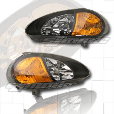 Headlights & Tail Lights - Headlights - Custom - Crystal JDM Black Headlights