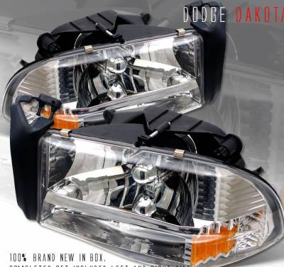 Headlights & Tail Lights - Headlights - Custom - Euro Chrome Headlights
