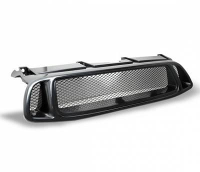 Grilles - Custom Fit Grilles - 4CarOption - Subaru Impreza 4CarOption Front Hood Grille - GR-WRX0405-BK